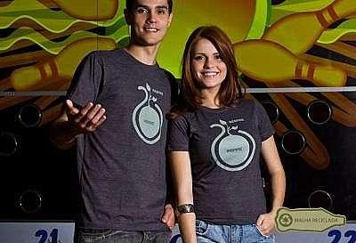 Camisetas sustentáveis: camiseta malha pet. 100% algodão