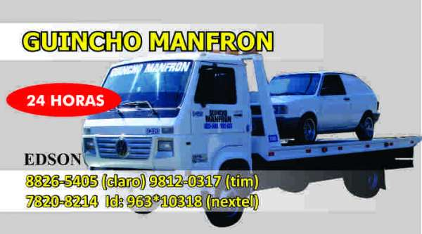 Guincho manfron 24 horas 41- 8826-5405, 41-9812-0317, 41-7820-8214 id-963*10318
