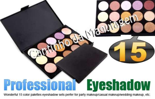 Maquiagens profissionais sombras, blushes, pincéis