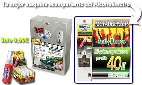 Alcoholimetro a monedas para bares, restaurantes