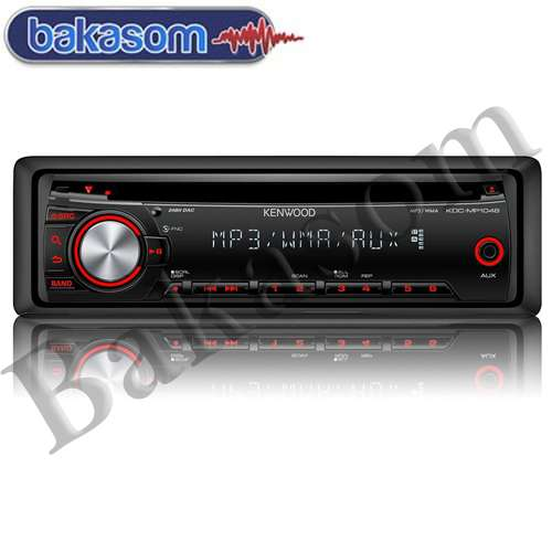 Kenwood kdc-mp1048u cd/mp3 som automotivo frente sai destacável entrada auxiliar