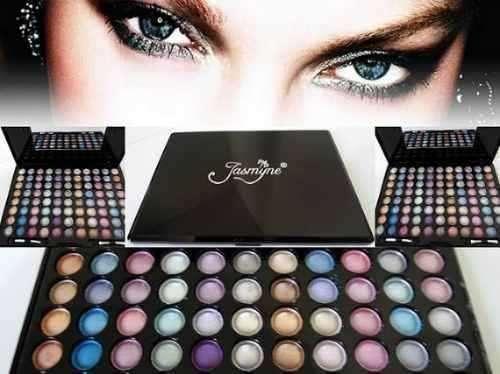 Kit maquiagem com 88 cores jasmyne - cores lindas e pigmentadas