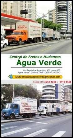 Motoristas para fretes e mudanças (central de fretes e mudanças agua verde).