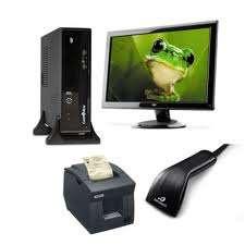 Pdv - frente de caixa - monitor, teclado, cpu, leitor, gaveta, impressora fiscal, mouse, nobreak.