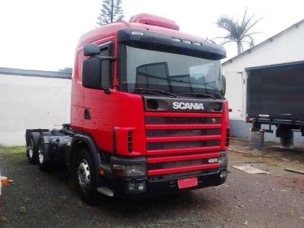 Scania r 124 420 6x4 ano 2003 em otimo estado