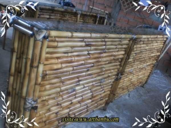 Balcão de bambu decorativo,ecológico,e correto