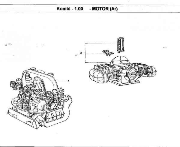 Motor kombi 1600 moderno com garantia 6 meses