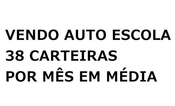 Vendo auto escola com media de 38 carteiras por mes