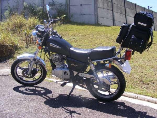 Moto suzuki intruder preta 125 cc 2008 zerada doc ok