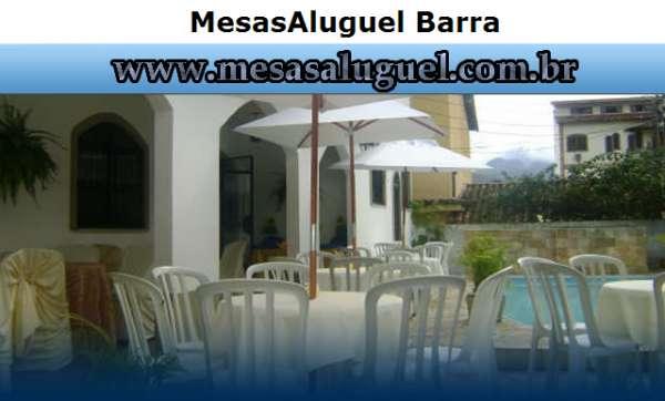 Mesas, cadeiras, toalhas aluguel mesas | aluguel barra rj