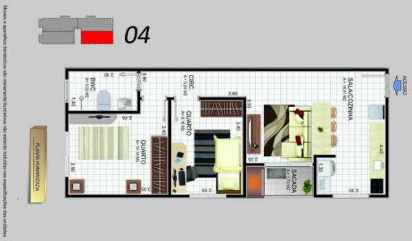 Fotos de Apartamento 2 dormitórios sacada com churrasqueira barreiros. 4