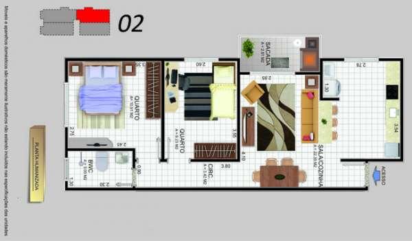 Fotos de Apartamento 2 dormitórios sacada com churrasqueira barreiros. 2