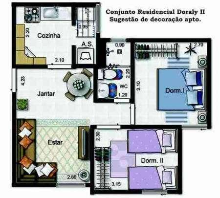 Apartamento guarulhos palmira vila galvao 2 quartos