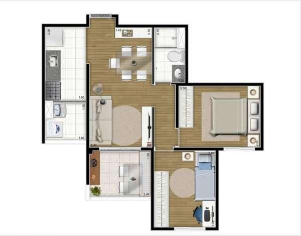 Fotos de Apartamento 2 e 3 dormitórios próximo do metrô 7