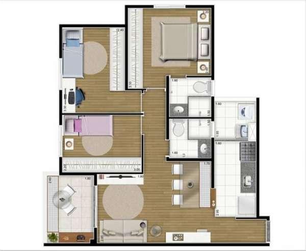 Fotos de Apartamento 2 e 3 dormitórios próximo do metrô 8