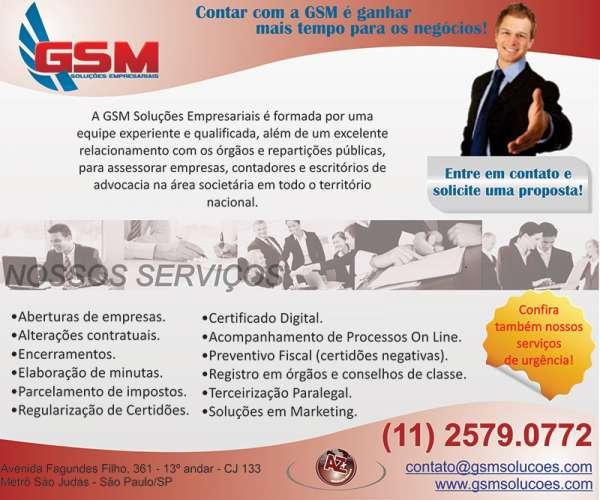 Gsm soluções empresariais - serviços societários