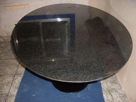 Mesa de granito são gabriel engrossado com marmore nero marquina