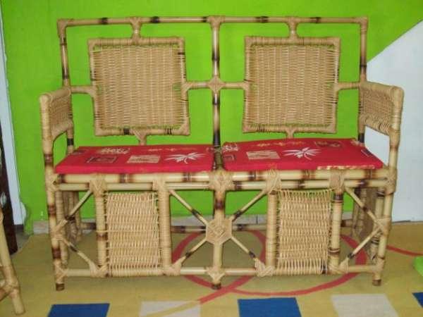 Móveis de bambu cana da índia tratada e decorações com bambu