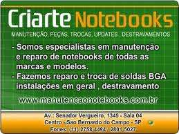 Manutencao de notebooks - criarte - f. 11-27584494