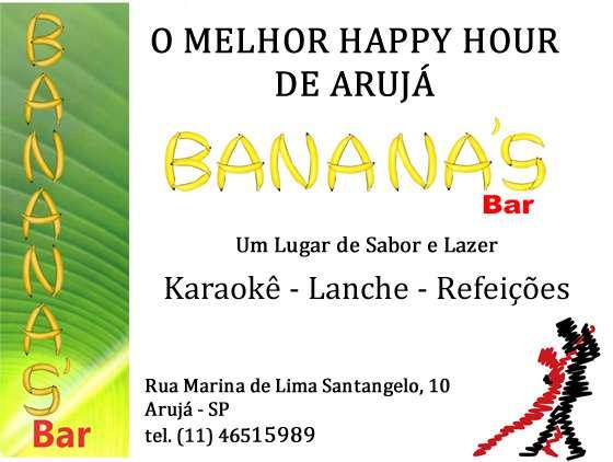 O melhor happy hour de aruja - banana´s bar