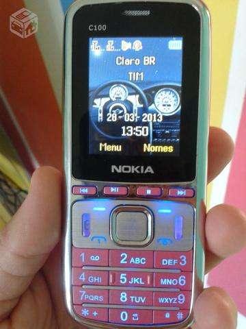 Celular c100 dual chip varias cores.confira