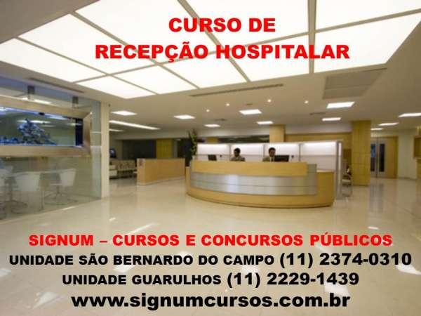 Curso de recepção hospitalar em guarulhos