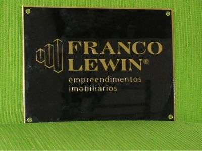 Placa de bronze para inauguração ou homenagem 21 4125-2849