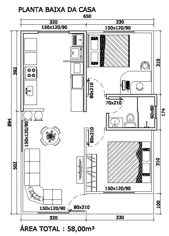 Casa de madeira completa - r$ 5.000,00