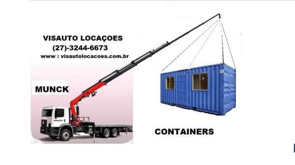 Visauto locações e serviços: containers e caminhão munck