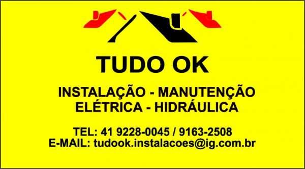 Tudo ok - instalação - manutenção - elétrica - hidráulica