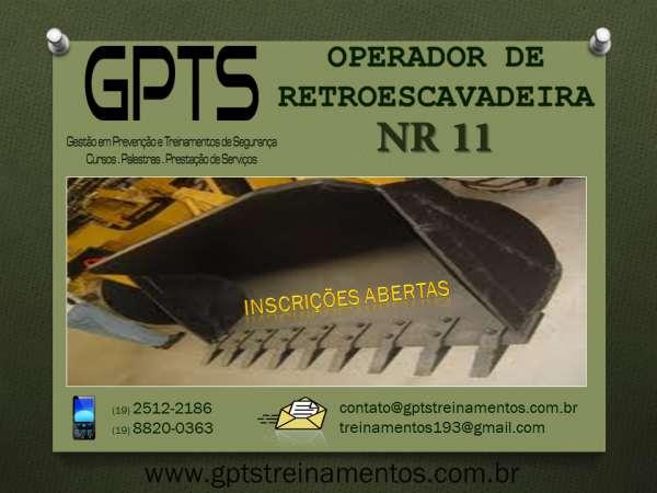 Curso de operador de retroescavadeira - 16h