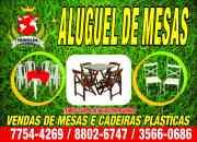 Aluguel de mesas e cadeiras Campo Grande-RJ
