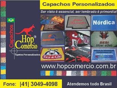 Capachos e tapetes personalizados hopcomercio