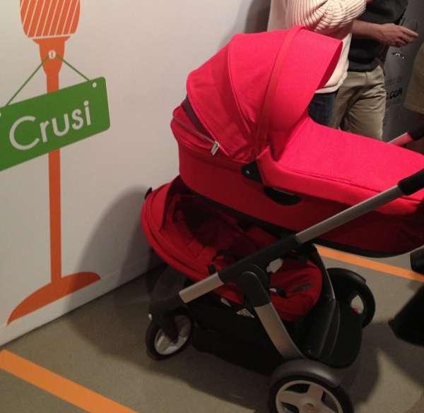2013 stokke crusi carrinho de bebê completo com alcofa