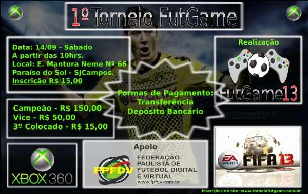 Campeonato de fifa 13 - 1º torneio futgame sjcampos