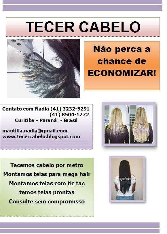 Tecendo cabelo à máquina