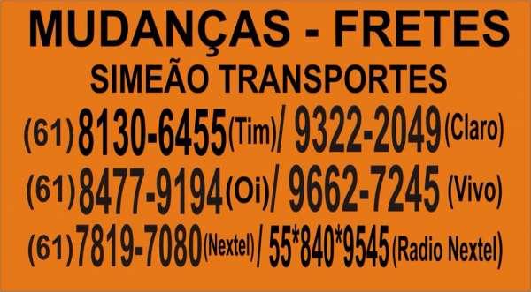 Mudanças simeao transportes brasilia /df