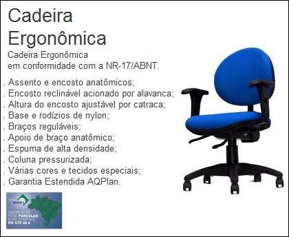 Cadeira ergonômica nr-17