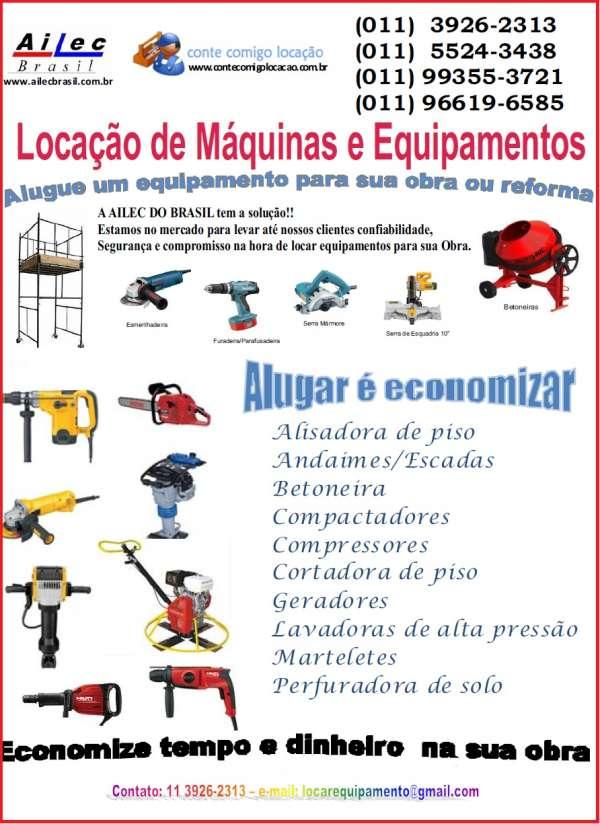 Locação de equipamentos para sua obra ou reforma