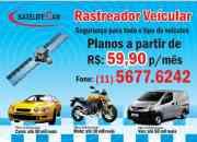 Rastreador veicular para carros,motos,vans e caminhões