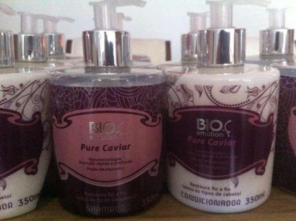 Shampoo e o condicionador pure caviar bio emotion