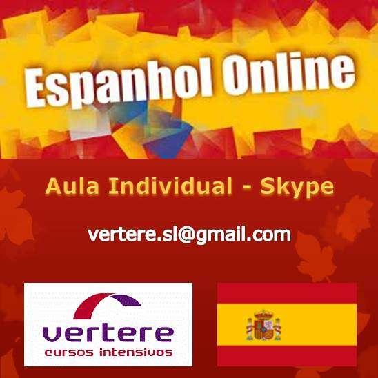Curso de espanhol - online skype ? aula individual