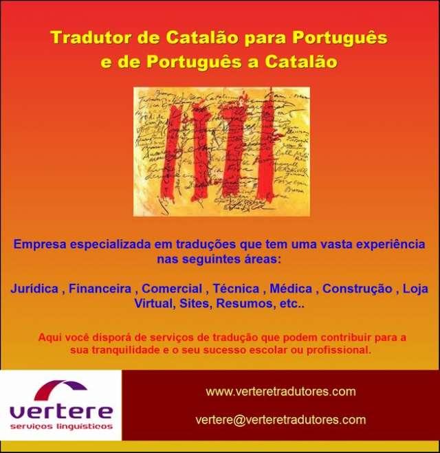 Tradutor de catal?o para portugu?s e de portugu?s a catal?o - servi?o 24 hr.