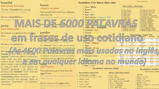 Aprenda inglês rápido e fluente (as palavras mais usadas do inglês)