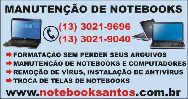 Conserto de tela de notebook em santos