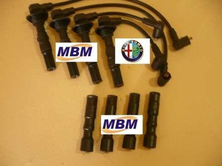Alfa romeo - twin spark - 4 cc 16v - cabos de velas + supressores das bobinas