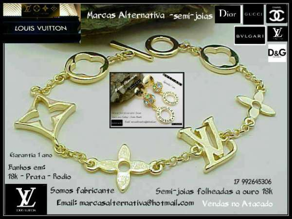 Semi-jóias de marcas famosas de luxo