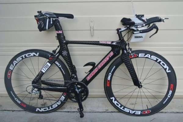 Bicicleta conceitos carbono triathlon