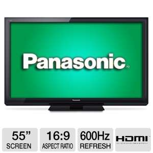 "Panasonic tc-p55st30 55 ""widescreen classe viera 3d plasma hdtv - 1080p, 1920 x 1080, 16:9, 600hz, hdmi, usb, energia -"