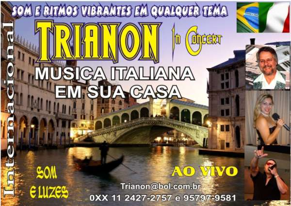 Cantor italiano em sua casa 011 957979581